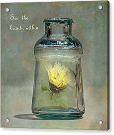 Message In A Bottle Acrylic Print by Angie Vogel
