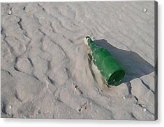 Message In A Bottle Acrylic Print by Peter Waters