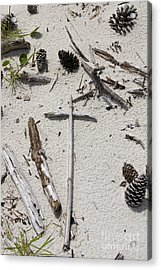 Message In The Sand Acrylic Print by Benanne Stiens