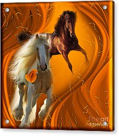 Acrylic Print featuring the digital art Messenger Of Love - Fantasy Art By Giada Rossi by Giada Rossi