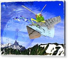 Messenger Of Time -manabu  Acrylic Print by Vin Kitayama