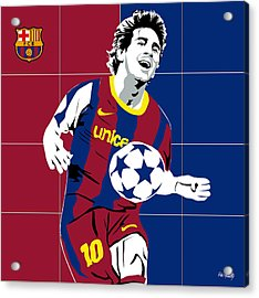 messi Football Acrylic Print by Roby Marelly