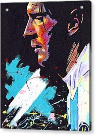 Messi Acrylic Print by Jeff Gomez