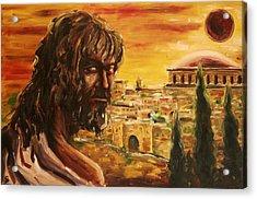 Messiah In Jerusalem Acrylic Print by George Dadiani