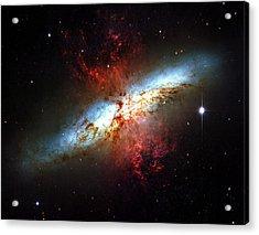 Messier 82 Acrylic Print by Ricky Barnard