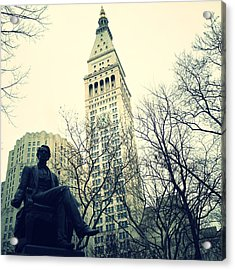 Met Life And Madison Square Park Acrylic Print