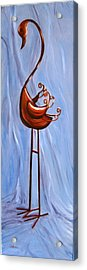Acrylic Print featuring the painting Metal Crane by LaVonne Hand