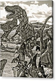 Metal Dinosaurs - 04 Acrylic Print by Gregory Dyer