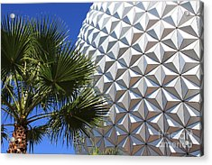 Acrylic Print featuring the photograph Metal Earth by Chris Thomas
