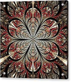 Metal Flower Acrylic Print by Anastasiya Malakhova