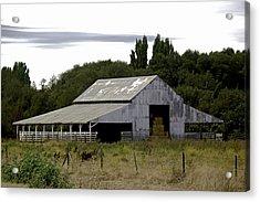 Metal Hay Barn Acrylic Print