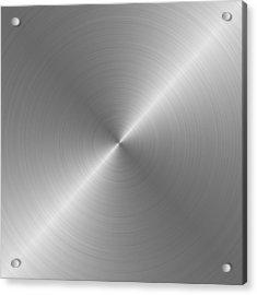 Metal Rough Circular Brushed Steel Aluminum Texture 1 Acrylic Print by REDlightIMAGE