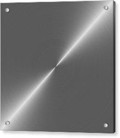 Metal Rough Circular Brushed Steel Aluminum Texture 2 Acrylic Print by REDlightIMAGE