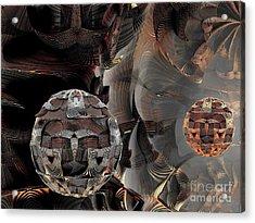 Metal Spheres Acrylic Print by Bernard MICHEL