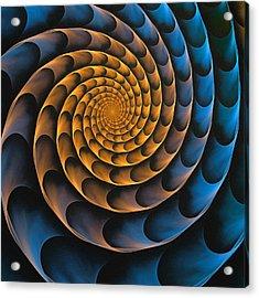 Metal Spiral Acrylic Print by Anastasiya Malakhova