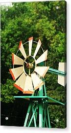 Metal Windmill Acrylic Print by Christopher Hoffman