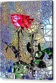 Metalic Rose Acrylic Print
