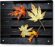 Metallic Leaves Acrylic Print