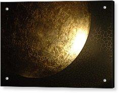 Metallic Moon Acrylic Print by Kathy Schumann