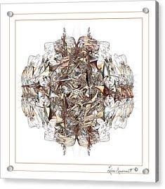 Metallic On White Acrylic Print