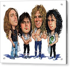 Metallica Acrylic Print by Art