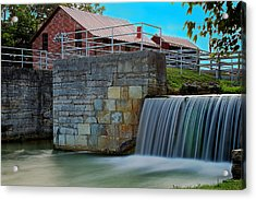 Metamora Waterfall Acrylic Print by Chuck Campbell