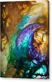 Metamorphic Sapphire Acrylic Print by Lucy Matta - LuLu