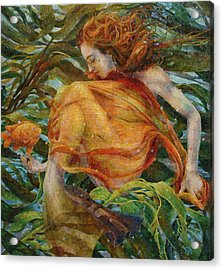 Acrylic Print featuring the painting Metamorphosis by Mia Tavonatti