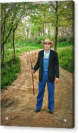 Metaphor - A Fork In The Road - 2 Acrylic Print by Nikolyn McDonald