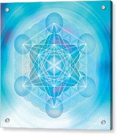 Metatron Mandala Acrylic Print by Soulscapes - Healing Art