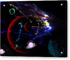 Meteor Explosion Acrylic Print by Camille Lopez