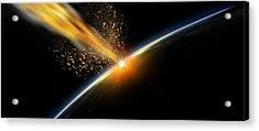 Meteor Hitting Earth Acrylic Print