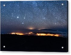 Meteor Over The Big Island Acrylic Print