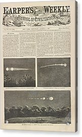Meteor Procession Of 20 July 1860 Acrylic Print by Library Of Congress
