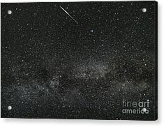 Meteor With The Milky Way Acrylic Print