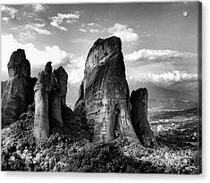 Meteora Greece Strange Rock Formation Acrylic Print