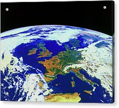 Meteosat Image Of Europe Acrylic Print by Esa/kevin A Horgan/science Photo Library