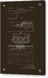 Method Of Making Golf Balls Patent 1928 Acrylic Print by Mountain Dreams