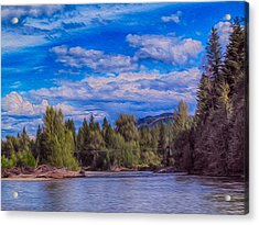 Methow River Crossing Acrylic Print by Omaste Witkowski