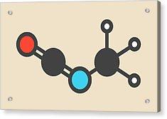 Methyl Isocyanate Toxic Molecule Acrylic Print by Molekuul
