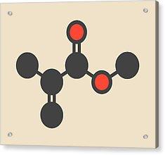 Methyl Methacrylate Molecule Acrylic Print by Molekuul