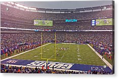 Metlife Stadium And New York Giant Acrylic Print by Juergen Roth