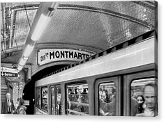 Acrylic Print featuring the photograph Metro At Montmartre. Paris by Jennie Breeze