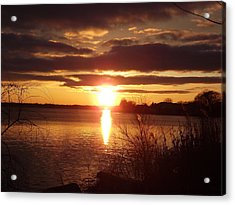 Acrylic Print featuring the photograph Metro Beach Sunset by Bill Woodstock