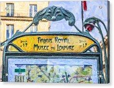 Metro Louvre Acrylic Print by Liz Leyden
