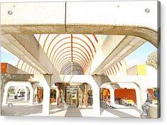 Metro Terminal Acrylic Print by Eric Soucy