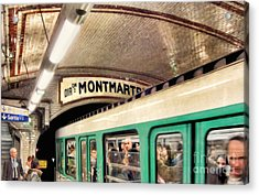 Acrylic Print featuring the photograph Metro To Montmartre. Paris   by Jennie Breeze
