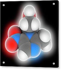 Metronidazole Drug Molecule Acrylic Print by Laguna Design