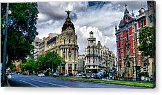 Metropolis Madrid Acrylic Print by Pedro Fernandez