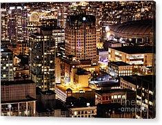 Acrylic Print featuring the photograph Metropolis Vancouver Mdccxv  by Amyn Nasser